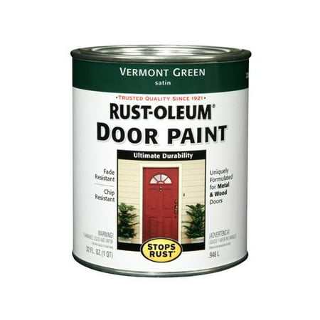 Rust-Oleum 238316 QT VermGRN Satin Door Paint