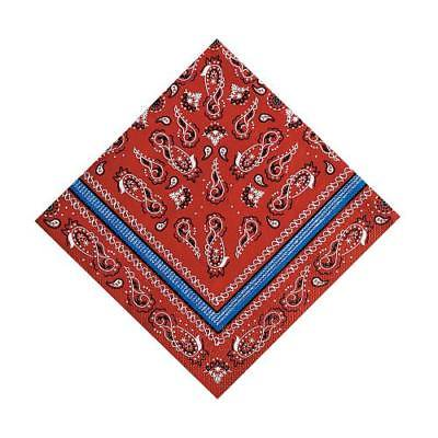 IN-70/8322 Red Bandana Luncheon Napkins 16 Piece(s)