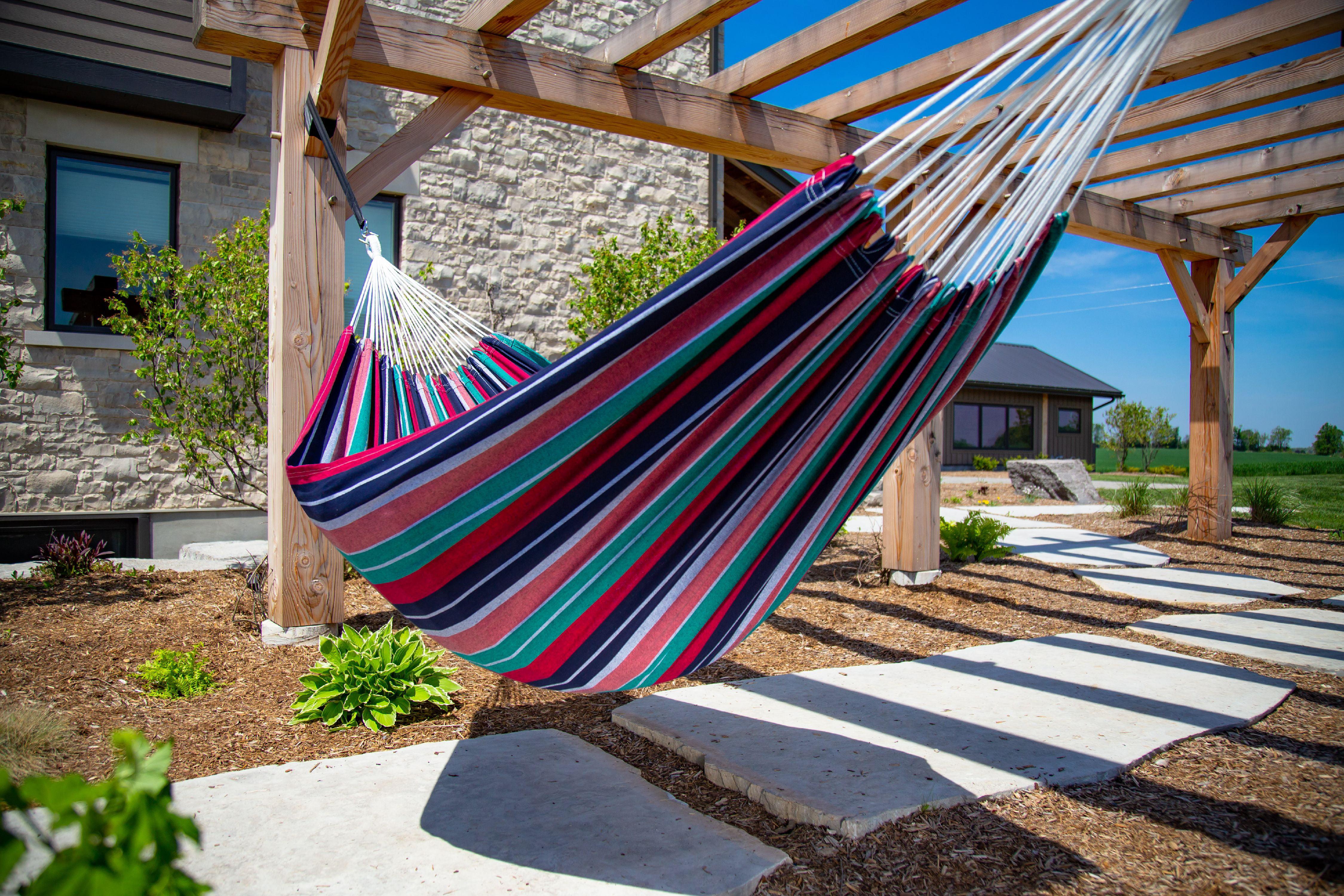 11 Ft Single Hammock Brazilian Cotton Durable Fabric Outdoor Garden Patio Oasis