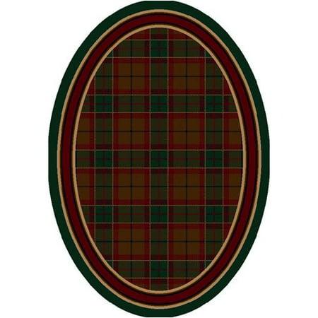 August Grove Gleason Magee Tartan Emerald Area Rug