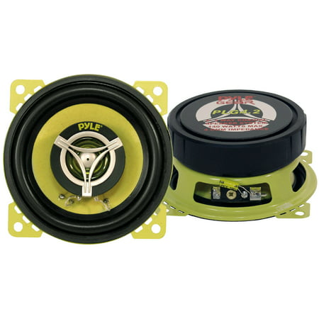 PYLE PLG4.2 - PYLE Gear 4'' -inch Coaxial Car Speaker Pair - 2-Way Vehicle Speakers, 140 Watt MAX 5 Way Gear Speaker