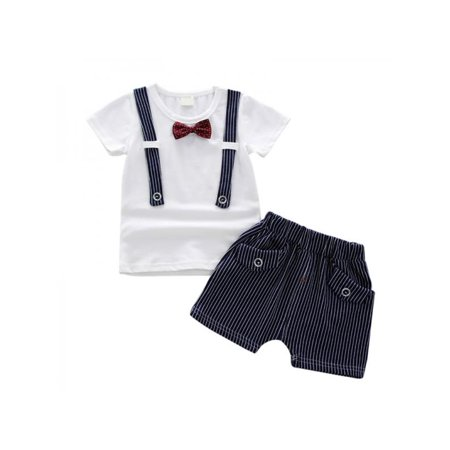 Funcee Casual Kid Boys Short Sleeve T-shirt + Shorts Clothing Outfits