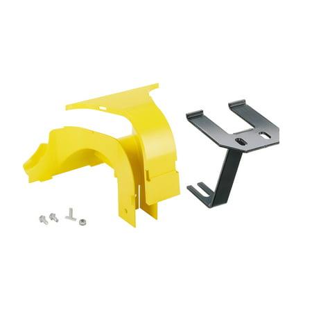 Panduit - FRSPJ2X2YL - Panduit FiberRunner 2x2 System Spillouts - Cable raceway spill-over junction - yellow Over Floor Raceway