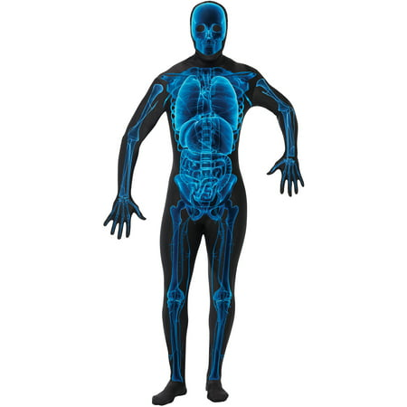 X-Ray Skin Suit Adult Halloween Costume - Scary Morphsuit