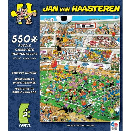 Ceaco Jan Van Haasteren Cartoon Capers Soccer Jigsaw Puzzle