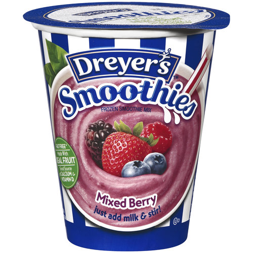 Edy's Smoothies Mixed Berry Frozen Smoothie Mix, 7.6 FL OZ