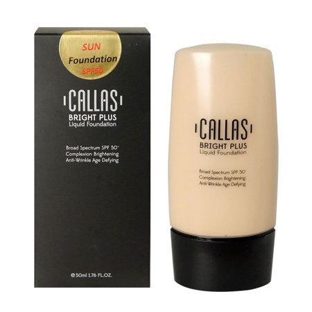 0.1 Liquid - Callas Bright Plus Liquid Foundation SPF 50 (CBPF 01 Light Beige) 1.76fl.oz/50ml