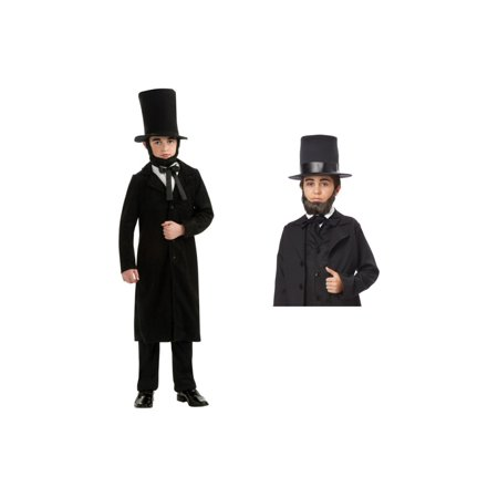 Abraham Lincoln Boys Costume and Beard