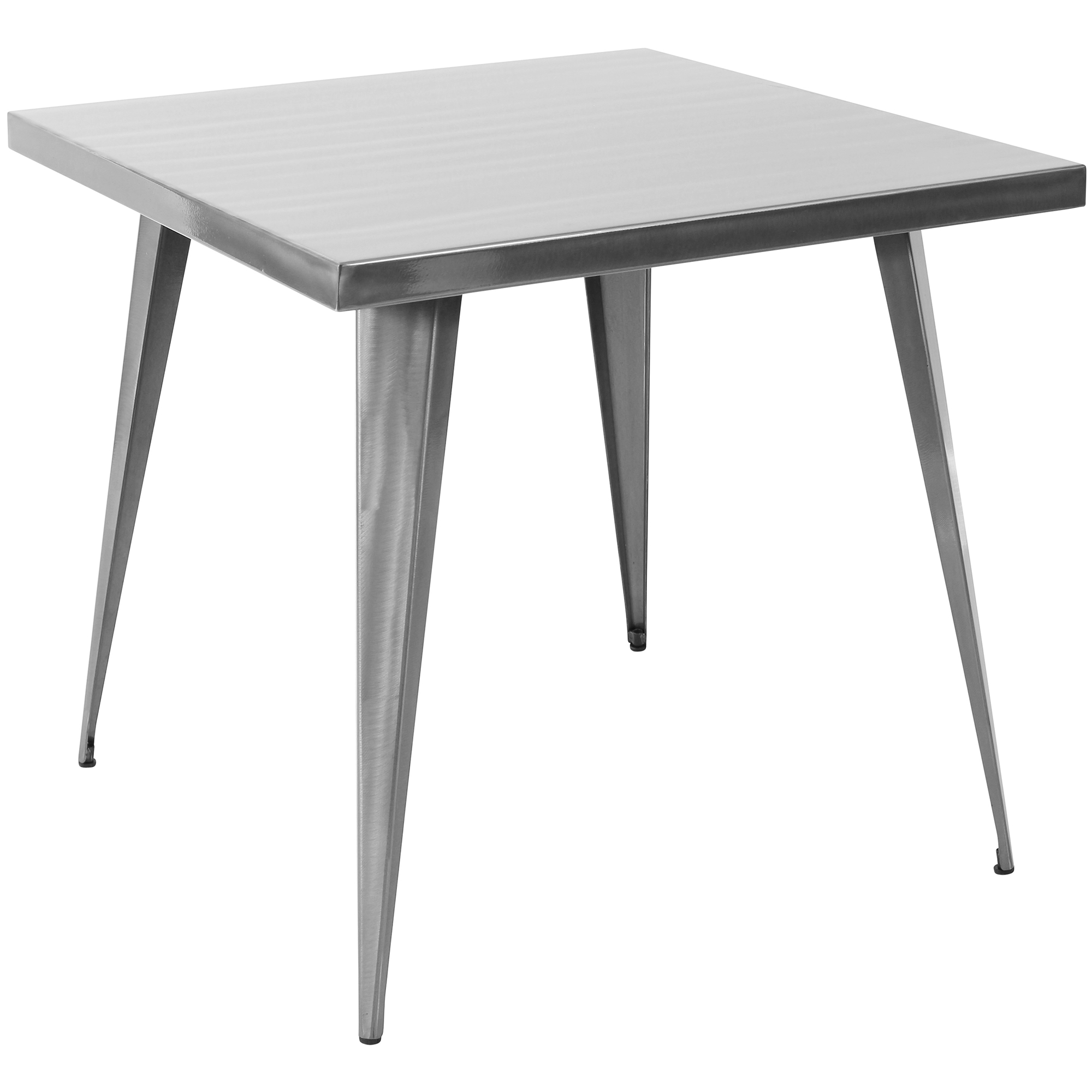 Austin Industrial Dining Table in Brushed Silver by Lumisource by LumiSource