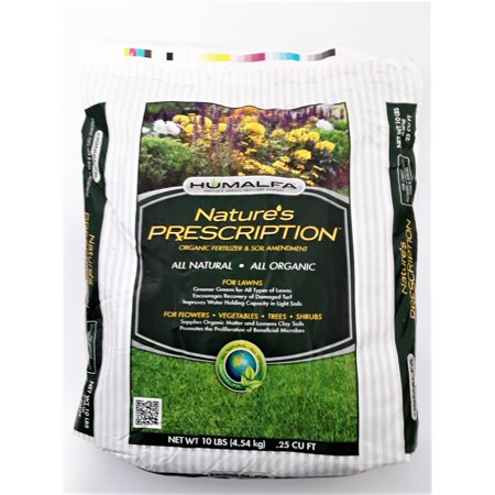Humalfa Compost Fertilizer, Soil Conditioner, Soil Amendment, Concentrated (10 Lbs. makes 40 Lbs.) Beef Cow Manure & Alfalfa, 1-1-1 NPK. Great for Vegetables, Flowers, Trees &
