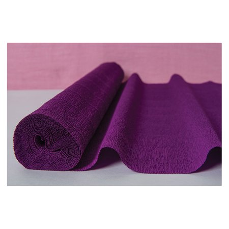 Premium Heavy Italian Crepe Paper Roll (20 Inches x 8 Feet, Bellflower Purple) - For DIY Projects, Table Runners, and Gift - Italian Table Decorating Ideas