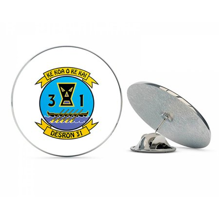 US Navy Destroyer Squadron Thirty One  Military Veteran USA Pride Served Gift Metal 0.75