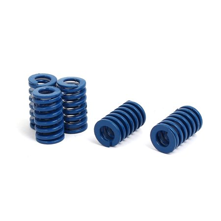 12mm Outer Dia 20mm Length Light Load Compression Mold Die Springs Blue 5pcs - image 3 de 3
