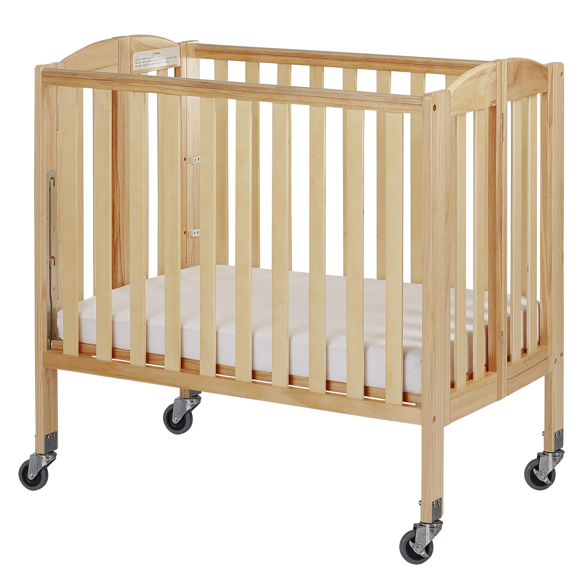 Dream On Me, 3 in 1 Birch Folding Portable Crib Storm Gray by Dream On Me
