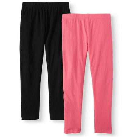 Pink Velvet Solid Leggings, 2-Pack (Little Girls & Big Girls)
