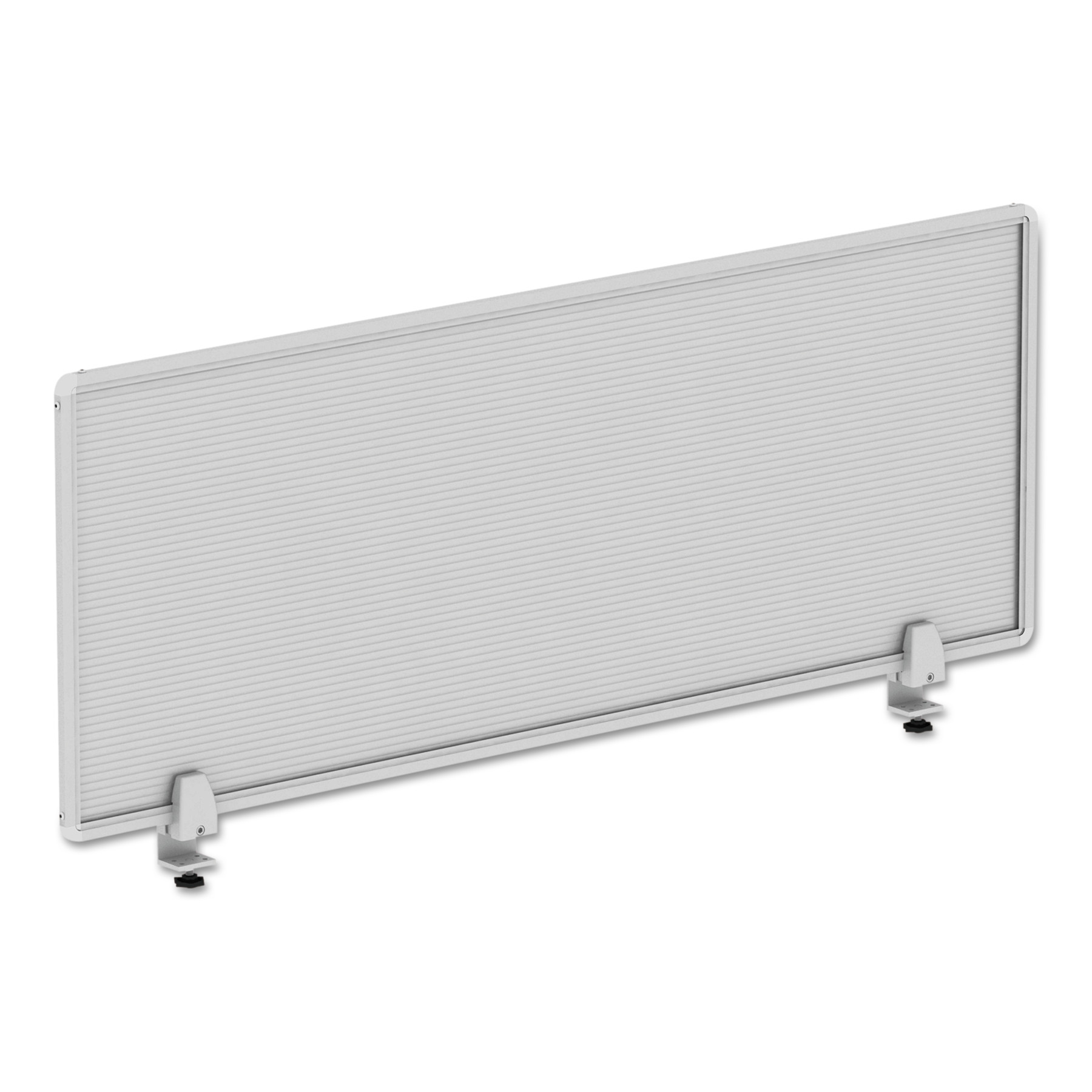 Alera Polycarbonate Privacy Panel, 47w x 18h, Silver by ALERA