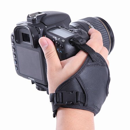 Movo Photo HSG-2 DualStrap Padded Wrist & Grip Strap for DSLR Cameras - Prevents droppage and stabilizes (Best Grip Strap For Dslrs)
