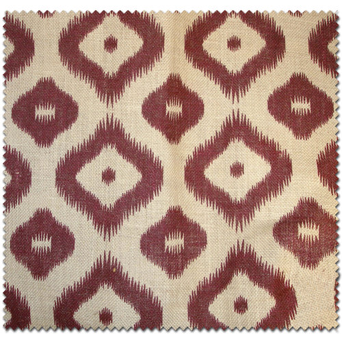 Textile Creations Home Decor Burlap, Large Diamond, Burgundy