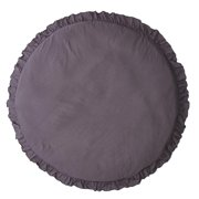 Solid Color Ruffle Rim Round Soft Crawling Mat Baby Playing Floor Cushion Pad Decor