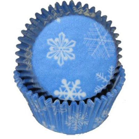 Snowflake Cupcake Baking Cups - Liners 50 Count - National Cake - Halloween Dirt Cake Cups