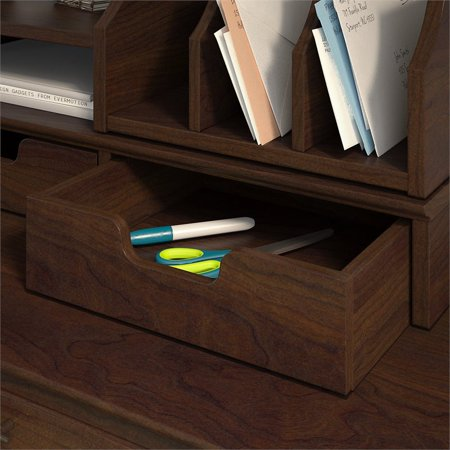 Bush Key West Desktop Organizer with Drawers in Bing Cherry - image 5 de 7