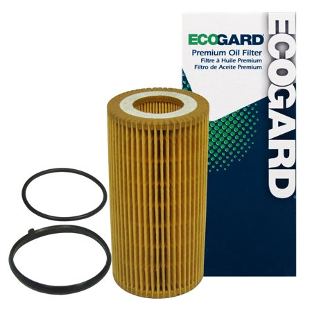 ECOGARD X5581 Cartridge Engine Oil Filter for Conventional Oil - Premium Replacement Fits Volkswagen Jetta, Passat, Beetle, Golf, Rabbit, GTI, Eos / Audi A4 Quattro, A4, A3, TT, TT Quattro