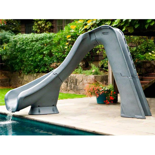 S.R. Smith 670-209-58124 Typhoon Right Curve Pool Slide, Gray Granite