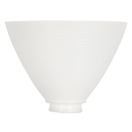 Opal Gloss Shade (White Opal Glass 8 Inch Reflector Floor Lampshade Replacement)