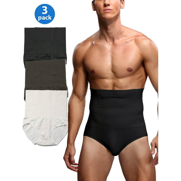 MISS MOLY - 3 Pack Mens High Waisted Underwear Firm Tummy Compression  Shaping Control Shapewear Boxer Briefs Sculpting Pants - Walmart.com -  Walmart.com
