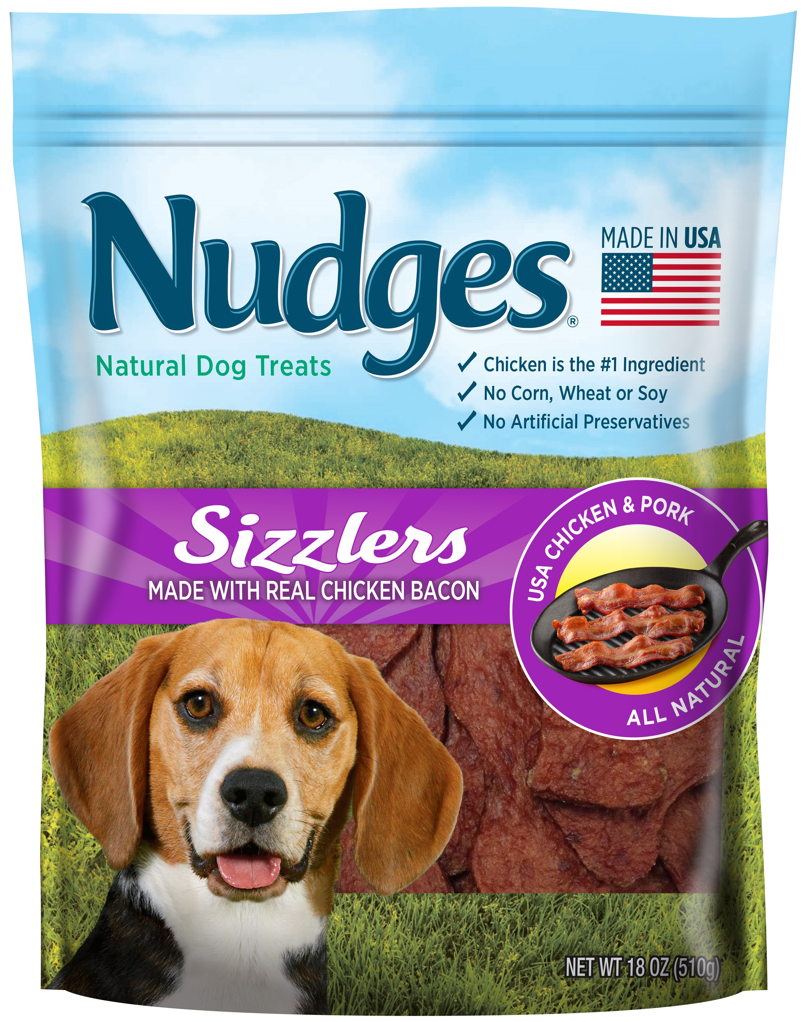 Nudges Homestyle with Real Chicken Bacon Dog Treats, 16 oz. by Tyson Pet Products, Inc.
