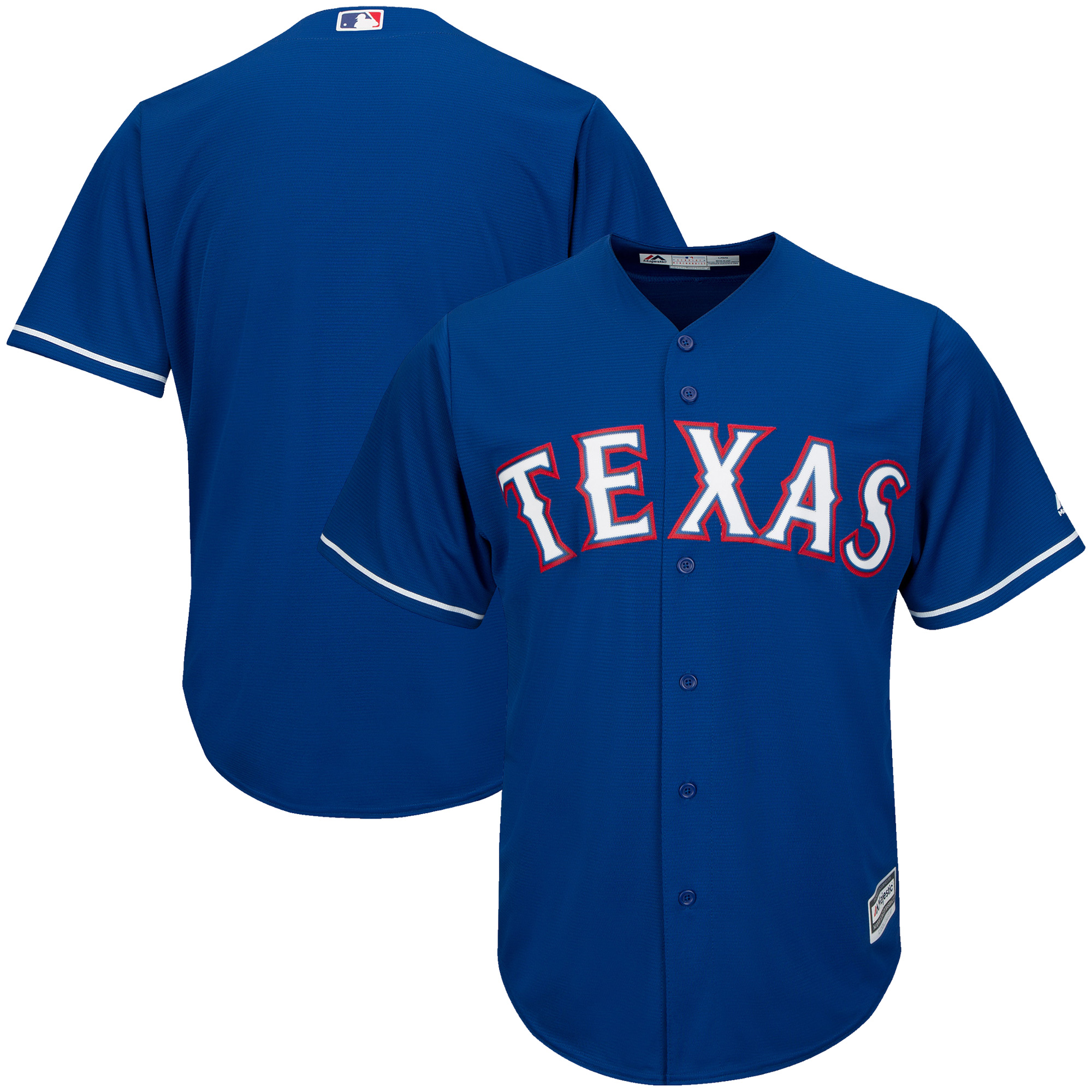 Texas Rangers Majestic Official Cool Base Jersey - Royal
