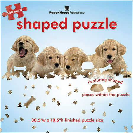 Golden Retriever Puppy Jigsaw Puzzle (Paper House Jigsaw Shaped Puzzle 500 Pieces 30.5