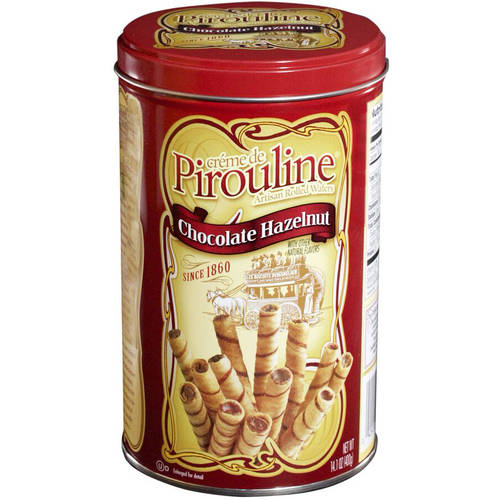 Creme de Pirouline Chocolate Hazelnut Artisan-Rolled Wafers, 14 oz