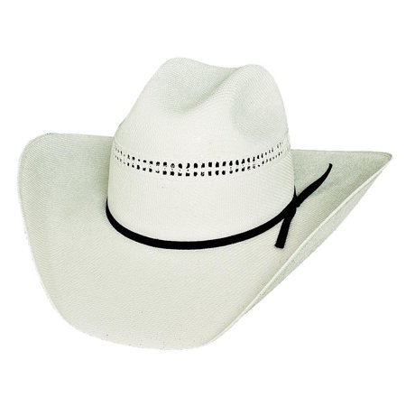 7' Grad Cap - Bullhide Hats 1040 Rodeo Round-Up Collection White Gold 10X Off White Cowboy Hat