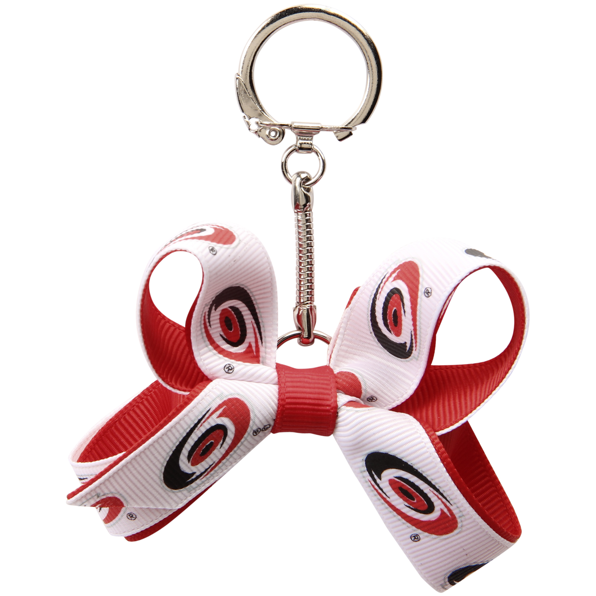 Carolina Hurricanes Women's 2-Tone Mini Bow Keychain - No Size