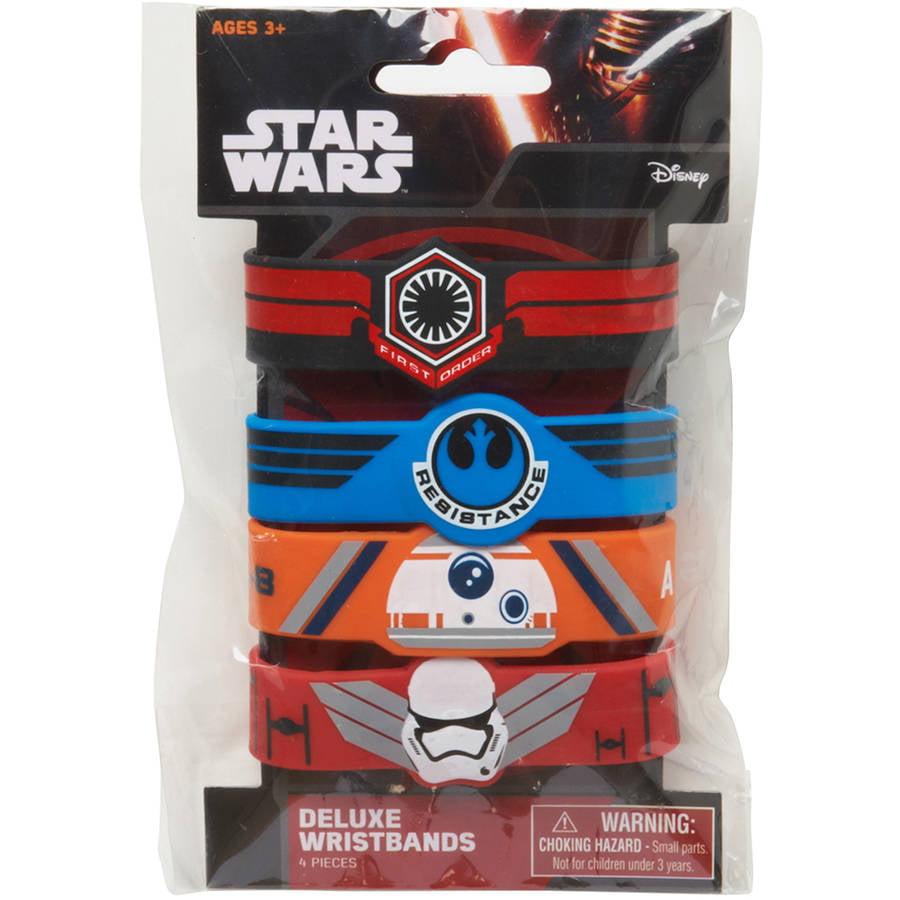 Star Wars Episode VII Rubber Bracelets, 4 Count, Party Supplies