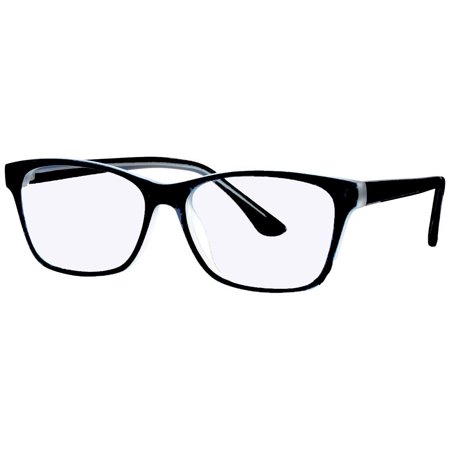 Computer Glasses with Sheer Vision Clear Double Sided AR Scratch Resistant Lenses - Stylish Plastic Frame - (Lightweight Plastic Glasses Frames)