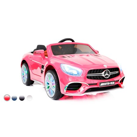 Mercedes Amg Wheel - New 12V Mercedes AMG SL65 Ride on power electric car ONE SEATER For ONE Kid For girl with MP4 Touch Screen Remote Control LED lights MP3 - Pink