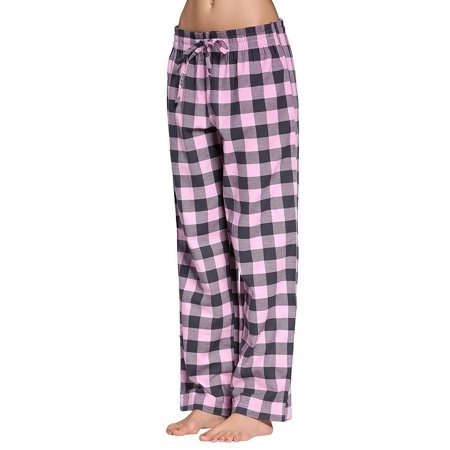 CYZ Women's 100% Cotton Super Soft Flannel Plaid Pajama/Louge Pants ()