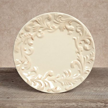 GG Collection Ceramic Plates - Cream - Set of 4 ()