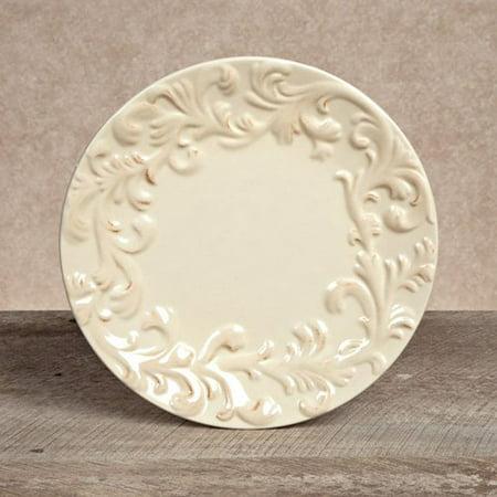 GG Collection Ceramic Plates - Cream - Set of 4 (Cream Tea Plate)