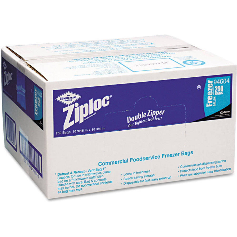 Ziploc Double Zipper 1 Gallon Freezer Bags, 250ct