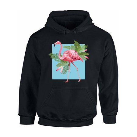 Awkward Styles Punk Flamingo Hooded Sweatshirt Pink Flamingo Hoodie Floral Flamingo Hoodie Sweater Flamingo Gifts for Men and Women Flamingo Themed Party Beach Party Hoodie