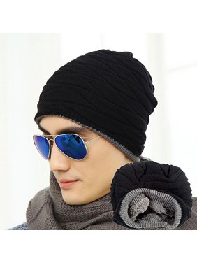44ae710a890 Product Image HiCoup Fashion Beanie Men Winter Warm Faux Fur Lined Baggy Hat  Ski Skull Hip-Hop