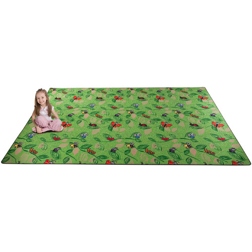 Kid Carpet Buzzy Bugs Green Area Rug
