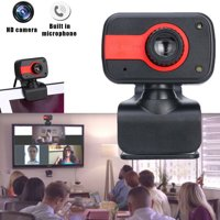 Upgrade 2.0 HD Webcam USB Computer Web Camera for PC Laptop Desktop HD Video Cam with Microphone-Red