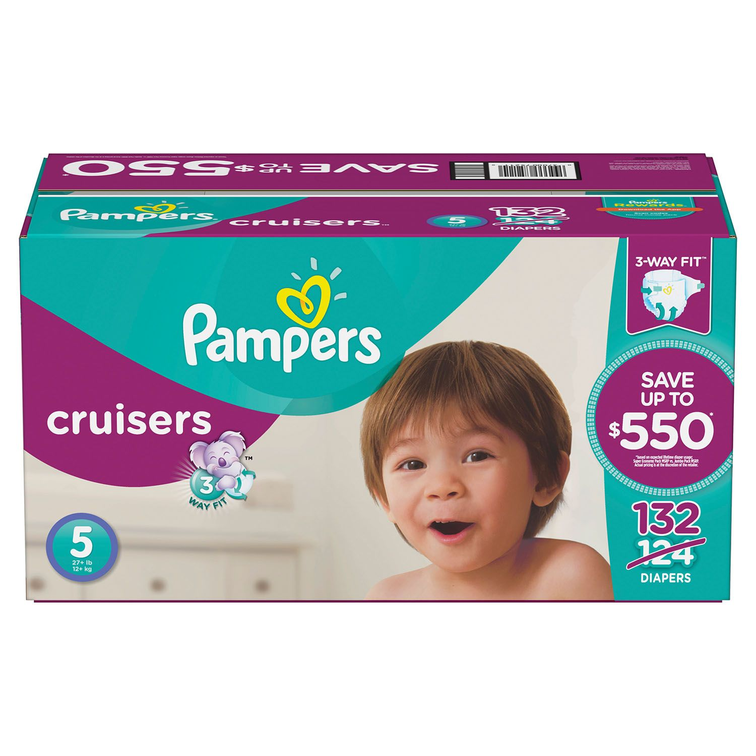 Pampers Cruisers Diapers Size 5 -132 ct. (27+ lb.)