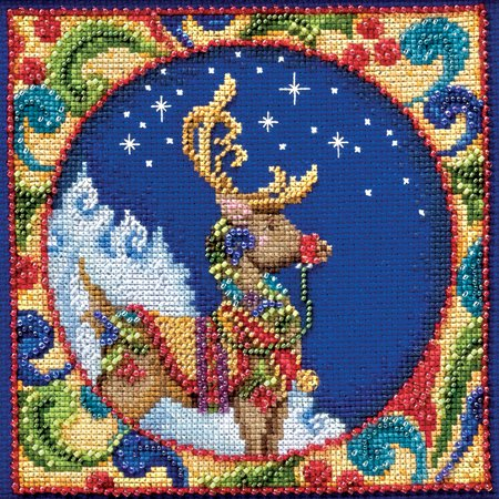 Mill Hill JS304101 Reindeer Jim Shore Counted Cross Stitch Kit - 5 x 5 in.