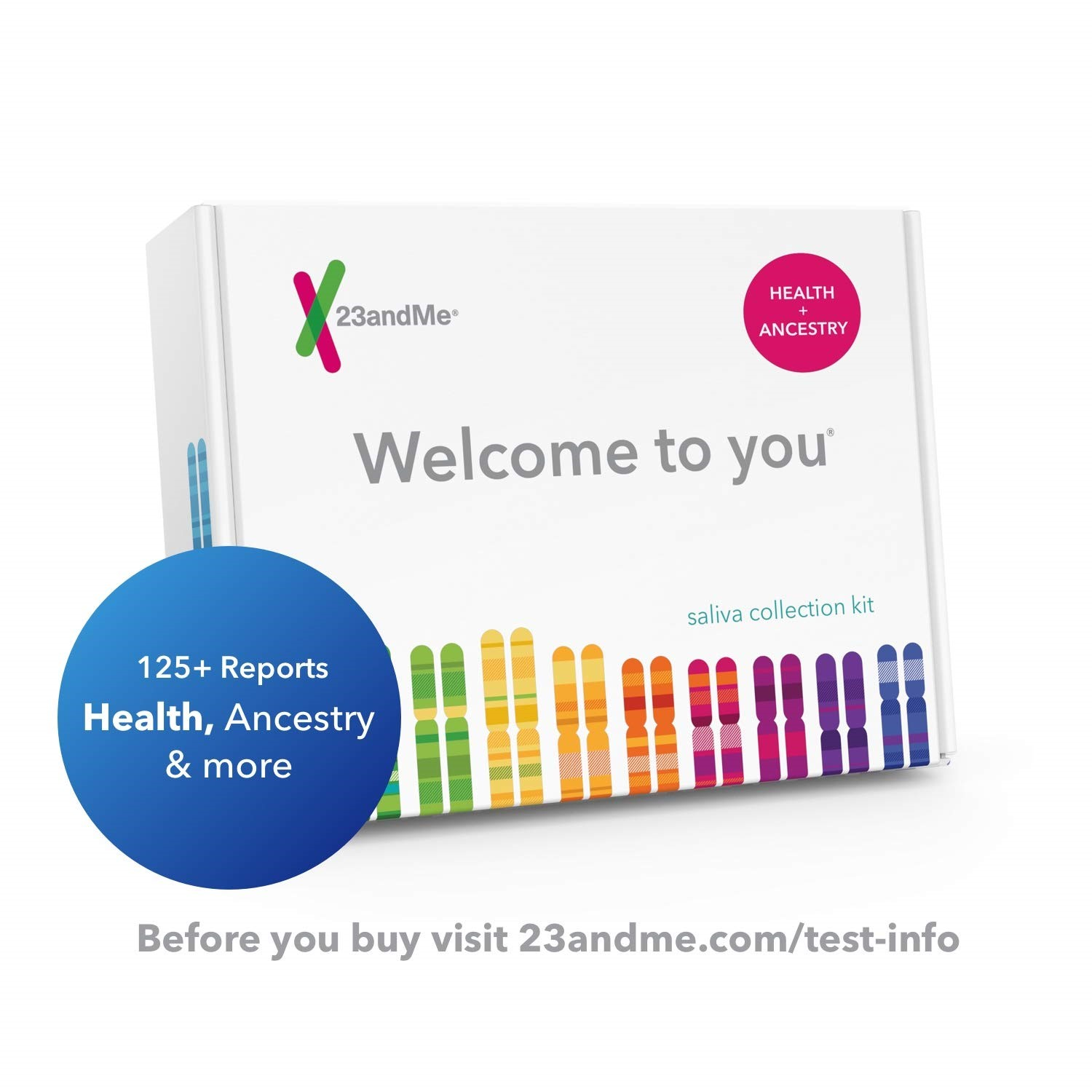 23andMe DNA Test - Health + Ancestry Personal Genetic Service (with Lab Fee Included)