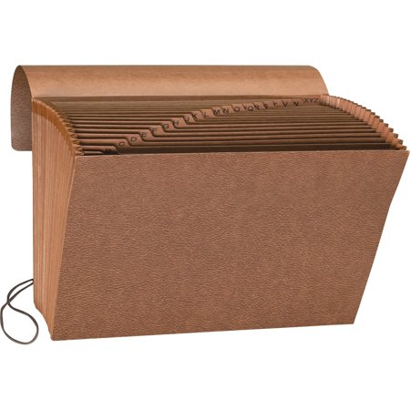 Sparco, SPR23680, Flap Close A-Z Heavy-duty Accordion File, 1 Each, Brown - Accordian Folders